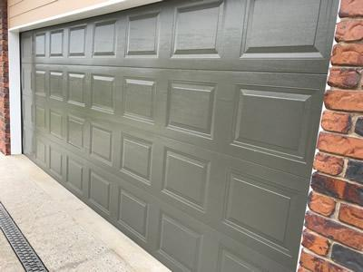 Woodland Grey Sectional garage door